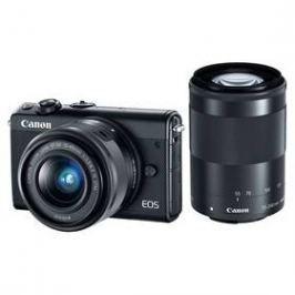 Canon EOS M100 + EF-M 15-45 IS STM + EF-M 55-200 IS STM černý