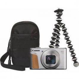 Canon PowerShot SX740 HS, TRAVEL KIT (2956C016) stříbrný