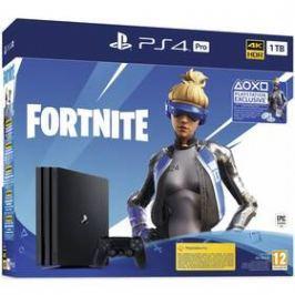 Sony PlayStation 4 Pro 1 TB + Fortnite balíček 2000 V Bucks (PS719941101) černá
