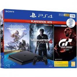 Sony PlayStation 4 1 TB + Gran Turismo Sport + Uncharted 4 + Horizon Zero Dawn (PS719318804)