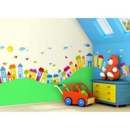 Forclaire Samolepící dekorace Domečky - 0,5 m2
