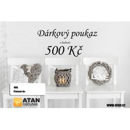 ATAN Dárkový poukaz v hodnotě 500 Kč Elektronický