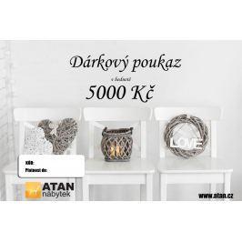 ATAN Dárkový poukaz v hodnotě 5000 Kč Elektronický