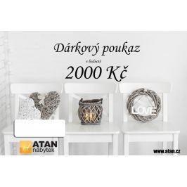 ATAN Dárkový poukaz v hodnotě 2000 Kč Elektronický