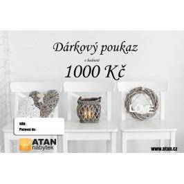ATAN Dárkový poukaz v hodnotě 1000 Kč Elektronický