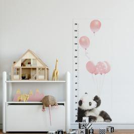 Forclaire Měřítko vzrůstu - Panda růžová