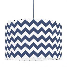 Forclaire Textilní závěsná lampa Cik Cak - modrá