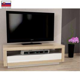 ATAN TV stůl AGNES - dub sonoma/bílá - II. jakost