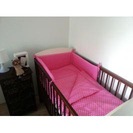 Forclaire Dětské povlečení Puntíky růžové mantinel Puntíky ružový 180x30