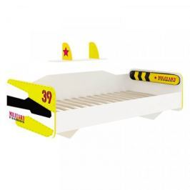 Lubidom Postel 90x200 Aviator - bílý, černý, žlutý