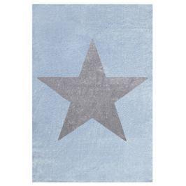 Forclaire Dětský koberec STAR modrá/stříbrná-šedá 80x150 cm