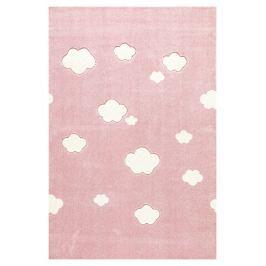 Forclaire Dětský koberec Mráčky růžovo-bílý 160x230 cm