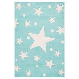 Forclaire Dětský koberec STARS mátový 80x150 cm