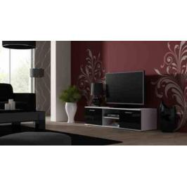 Cama Televizní stolek SOHO 140 - bílá/černá - II. jakost