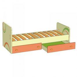 Lubidom Dětská postel s úložným prostorem Fruttis - žlutý, mango, lime