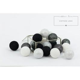 Forclaire Bavlněné svítící kuličky stříbrné 10 kuliček