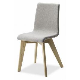 MIKO Jídelní židle Mirka podnož buk - čalouněný sedák