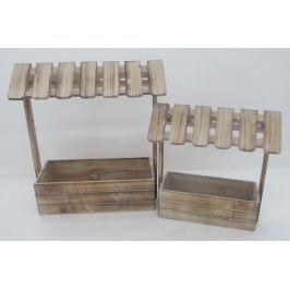 Autronic Truhlík dřevěný, sada 2 kusů DT1624