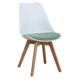 Tempo Kondela Jídelní židle DAMARA - bílá / zelená