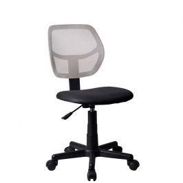 Tempo Kondela Otočná židle MESH, šedá / černá