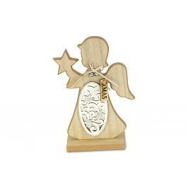 Autronic Anděl, vánoční dřevěná dekorace KLA513