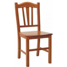 ATAN Dřevěná židle Silvana tmavě hnědá, masiv - II.jakost