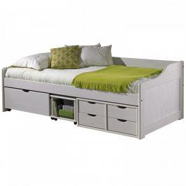 ATAN Jednolůžková postel se zásuvkami MAXIMA bílá - II.jakost