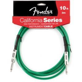 Fender California Cable 10' Surf Green