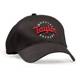Taylor Black Cap, Red/Wht Emb- One Size