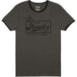 Fender Beer Label Ringer T-Shirt Dark Grey M