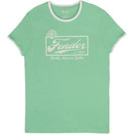 Fender Beer Label Ringer T-Shirt Surf Green L