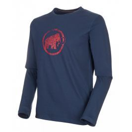 Pánské triko Mammut Logo Longsleeve M Velikost: XXL / Barva: tmavě modrá