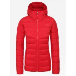 Dámská bunda The North Face Stretch Down Hoodie Velikost: M / Barva: červená