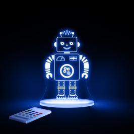 Aloka Noční světýlko Robot + ovladač pro volbu barev