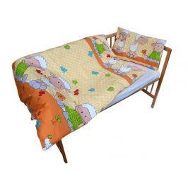 Cosing Dětské povlečení Ovečka oranžová 60x40 + 135x100 cm