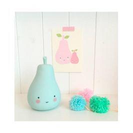 Little Lovely Company Noční mini světýlko Hruštička - modrá