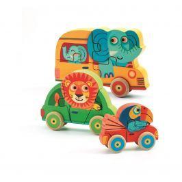 Djeco 3D puzzle Zvířátka jedou