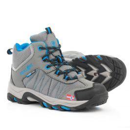 Trollkids Chlapecká outdoorová obuv Kids Fjell Hiker - šedá