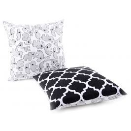 My Best Home Dětský polštář Afrika/Ornamenty, 40x40 cm - černo-bílý