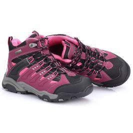ALPINE PRO Dětská kotníková outdoorová obuv Balliol - fialovo-černá