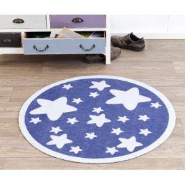 Hanse Home Dětský kulatý koberec Hvězdičky, modrý