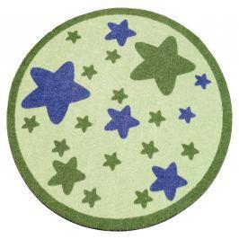 Hanse Home Dětský kulatý koberec Hvězdičky, zelený