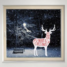 Housedecor Samolepka na sklo Christmas sob