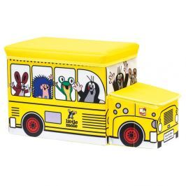 Bino Krteček krabice na hračky - bus