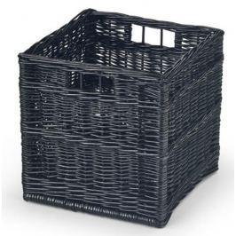 Halmar Dětský proutěný úložný box, 31x31x31 cm - černý