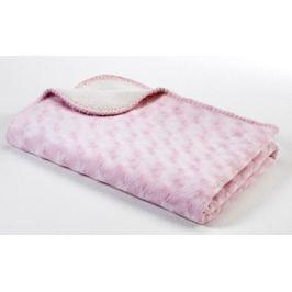 Baby Dan Dětská oboustranná deka double fleece, 75x100 cm - růžová