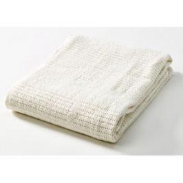 Baby Dan Dětská háčkovaná bavlněná deka Babydan - béžová
