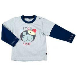 MMDadak Chlapecké tričko s medvídkem - šedo-modré