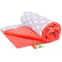 My Best Home Minky deka Light 50x75 cm, puntini šedá-červená
