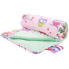 My Best Home Minky deka Light 50x75 cm, sova růžová-mátová